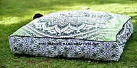 Indian Daybed Big Seating Ombre Mandala Floor Pillow Cover Pouf Cushion Ottoman