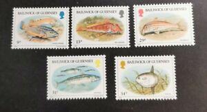 Guernsey 1984 Fish  set  MUH B40
