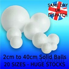 Solid Polystyrene Balls Craft Floral Cake Sweet Tree 20mm - 400mm Huge UK Stock