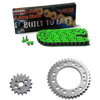 O-Ring Chain and Sprocket Kit Green 2000-2006 Kawasaki Vulcan 800 VN800E Drifter