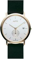 Alfex Steel/ Leather Mens Watch 5468/025. 3ATM Water Resistant, Swiss Made.