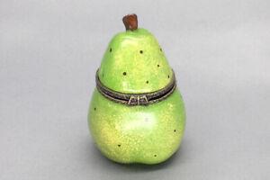 Vintage Green Pear Trinket Box Unbranded