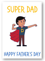 Second Ave Funny/Cute Super Hero Dad Father's Day Card For Dad