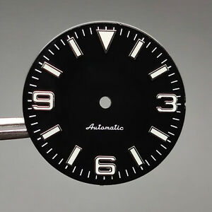 For Nh35 Movement 28.5mm Luminous Mechanical Watch Dial Bright c3 Green