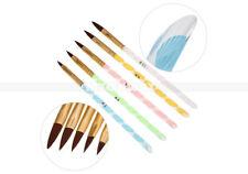 Professional 5Pcs Acrylic Nail Art UV GEL Carving Pen Brush Liquid Powder DIY Ne