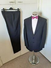 """M&S 'Essential' Men's Black Stripe 2PC Suit C40"""" Long W34"""" L33"""" Classic W/Blend"""