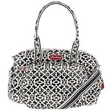 Lou Harvey Diana Crossbody Baby Nappy Diaper Bag Black-white Large BHFO 7458