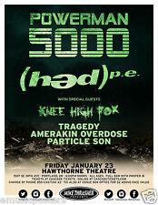 POWERMAN 5000/(HED) P.E./KNEE HIGH FOX/TRAGEDY 2O15 PORTLAND CONCERT TOUR POSTER