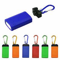 6 x Magnetic Keychain COB LED Flashlight Torch Hiking Bright Light Lamp Camping