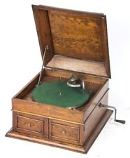 Antique HMV Oak Cased Wind up Gramophone - Free Shipping [PL4521]