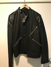 ACNE STUDIOS MENS CAFE RACER LAMBSKIN JACKET BLACK