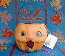 Bethany Lowe Halloween Medium Choir Boy Pumpkin Bucket Jack O'lantern JOL New