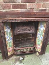 VICTORIAN STYLE CAST IRON FIREPLACE COMPLETE WITH TILES - COLLECTION ONLY