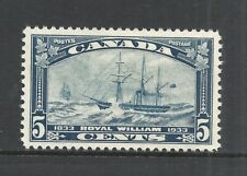 CANADA SCOTT 204 MH VF - 1933 5c DARK BLUE ROYAL WILLIAM ISSUE   CV $11.00