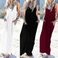 Womens Boho Summer Sundress Strappy Long  Evening Party Maxi Dress Plus Size