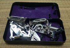 VINTAGE SINGER SEWING MACHINE TOOLS, ACCESSORIES with TIN BOX