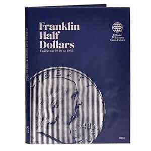 Whitman Coin Folder 9032 Franklin Half Dollar 1948 - 1963 Album / Book