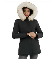 New Molemsx Women's Faux Fur Hooded Omni Heat Jacket Winter Puffer Coat XS NWT