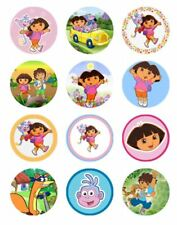 12 DORA THE EXPLORER Edible Icing Image Birthday Cupcake Decoration Toppers #1
