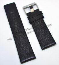 Comp. Diesel DZ4216 DZ1207 DZ1194 - 26mm Black Genuine Leather Watch Strap Band