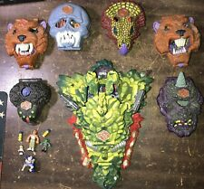 Vintage 1993 Bluebird Toys Mighty Max Dragon Island & 6 Other Monsters