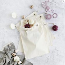 Organic Cotton Muslin Produce Bags - 4 pack