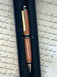 New Australian Handmade Ballpoint Pen - Tiger Myrtle Wood