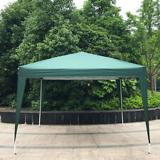 10x10 Pop-Up Waterproof Canopy Folding Square Outdoor Party Camping Tent Green