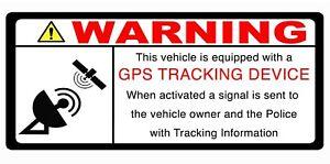 1 x Laminated  THIS VEHICLE IS GPS TRACKED warning Car Van Self Adhesive Sticker