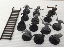 13 Warhammer Lord Of The Rings Uruk Hai Siege Troops & Ladder Some Painted