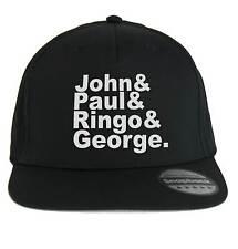 Chapeau John & Paul & Ringo & George The Beatles,SnapBack Casquette noir,musique