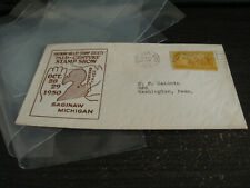 UNITED STATES SAGINAW VALLEY STAMP SOCIETY MID CENTURY STAMP SHOW COVER LOT  #24
