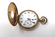 A Nice Quality Antique Edwardian Gold Plated Half Hunter Top Wind Pocket Watch