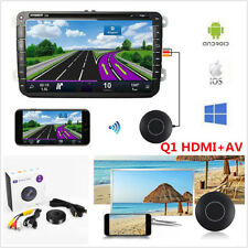 Car Home Miracast Airplay Hdmi+Av Rca Tv WiFi Mirror Link Screen Video Dongle(Fits: More than one vehicle)