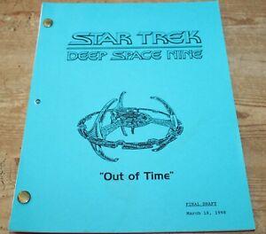 Star Trek DEEP SPACE NINE TV SERIES SHOW SCRIPT EPISODE OUT OF TIME