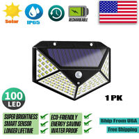 Combo 100 LED Waterproof Solar Power PIR Motion Sensor Wall Light Outdoor Garden