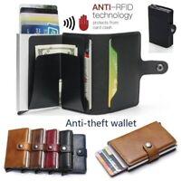 Wallet For Men Slim Mini Aluminium RFID Blocking Credit Card Holder Money Clip
