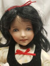 """Dianna Effner Porcelain Storybook Doll by Edwin Knowles 8"""" Snow White"""