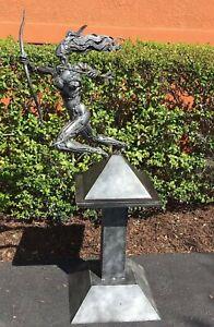 Sculpture Sweet Huntress By Boban Ilic Metal Art Statue Original Art On Pedestal