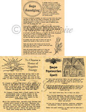 SAGE SMUDGING Book of Shadows Parchment Pages, Witchcraft, like Charmed