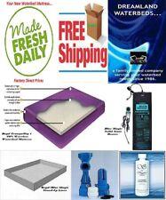 King/California K Boyd Tranquility 1-60% Waveless Waterbed Mattress+Heater+Liner
