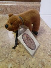 Vintage Ganz Cottage Bear on Wheels w/tags Rare