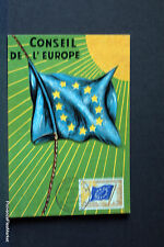 Yt ser 02 CONSEIL DE L EUROPE    FRANCE  Carte Postale Maximum