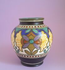 Gouda Royal -Zuid Holland Vase Keramik  Art Deco Dekor Madeleine 2525