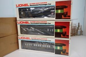 Set Of 3 Lionel O Gauge TCA Heavyweight Passenger Cars 6-0511 & 6-7205 & 6-7212
