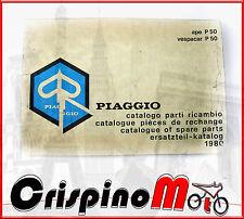 CATALOGO PARTI DI RICAMBIO  PIAGGIO APE 50 1980