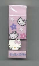 Sanrio Hello Kitty Eraser 2 Erasers Pink Flowers