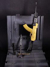 1/6 BattleField Golden AKM AK47 Assault Rifle Assemble Modern Warfare metal 17cm