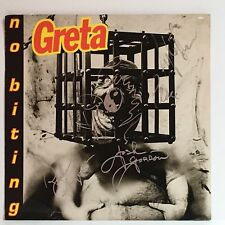 GRETA NO BITING rare 12x12 STORE POSTER  2-Sided Autographed By Band