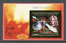 Central African Republic Michel BL #399A MNH S/S GOLD FOIL Halley's Comet $$